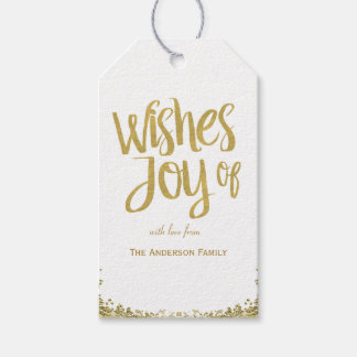 Wishes of Joy glitter gift tags