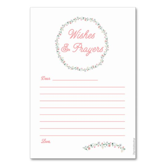 Wishes & Prayers cards - Pink