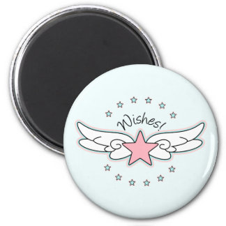 Wishes - Star with Wings Refrigerator Magnets