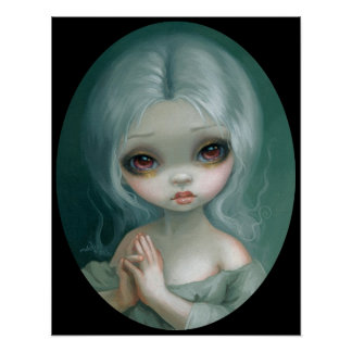 Wishful Thinking big eye art print Jasmine Becket