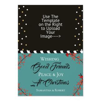 Wishing Good Friends Peace & Joy at Christmas - Card