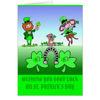 Wishing Good Luck Leprechauns Card