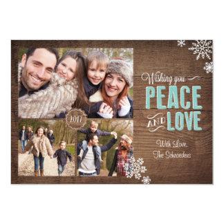 Wishing Love & Peace Holiday Photo Card