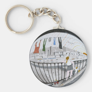 Wishing on a 'Plane Basic Round Button Key Ring