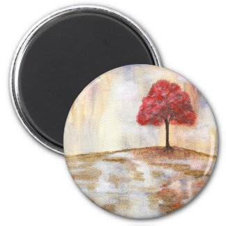 Wishing Tree 6 Cm Round Magnet