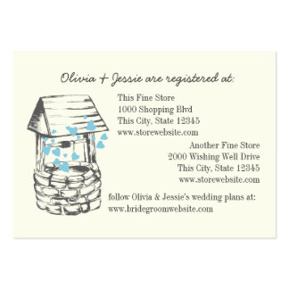 Wishing Well Bridal Registry Cards Pack Of Chubby Business Cards