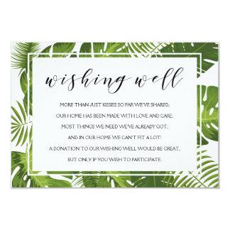 Wishing well card | elegant tropical wedding