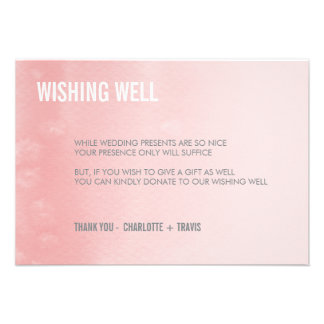 WISHING WELL CARD ombre watercolor coral