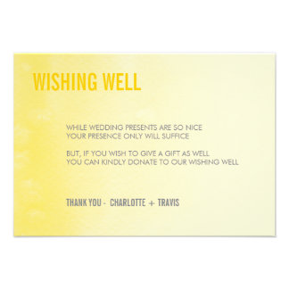WISHING WELL CARD ombre watercolor yellow