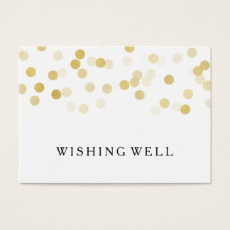Wishing Well Gold Foil Glitter Lights Business Card