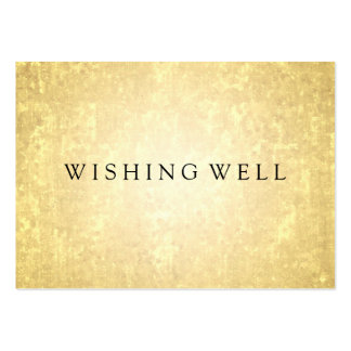 Wishing Well Gold Foil Look Stars Confetti Pack Of Chubby Business Cards