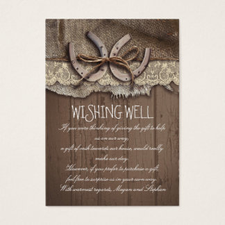 Wishing Well Horseshoes Rustic Cards