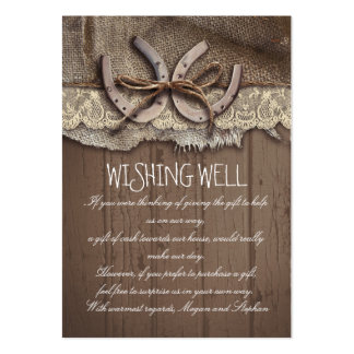 Wishing Well Horseshoes Rustic Cards Pack Of Chubby Business Cards