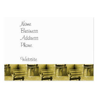 Wishing Well Pattern Faded Vintage Tan Business Cards
