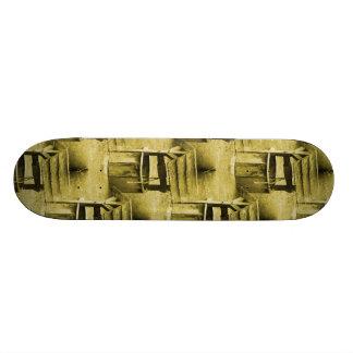 Wishing Well Pattern Faded Vintage Tan Skate Boards
