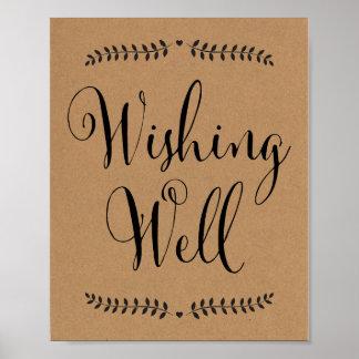 Wishing Well sign / Wishing well wedding sign