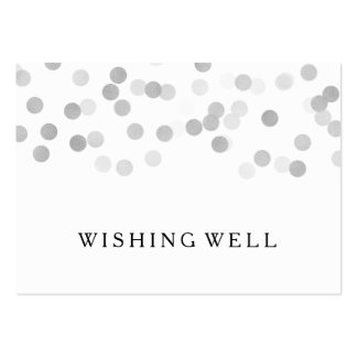 Wishing Well Silver Foil Glitter Lights Pack Of Chubby Business Cards