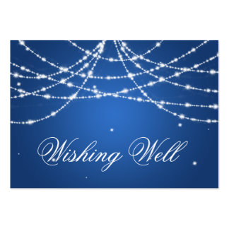 Wishing Well Sparkling String Blue Pack Of Chubby Business Cards