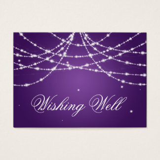 Wishing Well Sparkling String Purple Business Card
