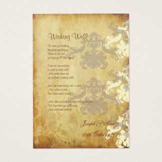 Wishing Well! Vintage (Chubby Business Cards) Business Card