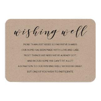 Wishing well wedding insert card