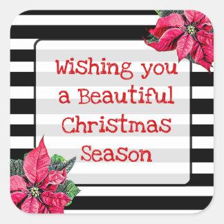 Wishing you a Beautiful Christmas Season Stickers