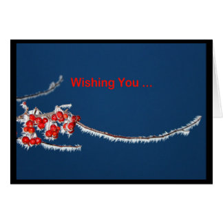 Wishing You A Berry Merry Christmas! Greeting Card