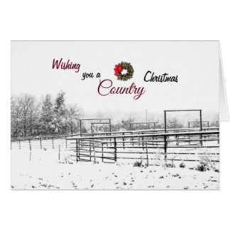 Wishing you a Country Christmas Greeting Card