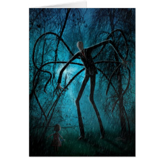 Wishing You a Creepy Day personalised Slender Man Card