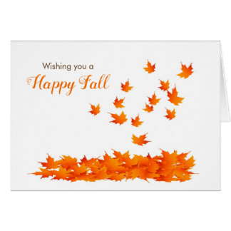 Wishing you a Happy Fall Leaves Card for Autumn