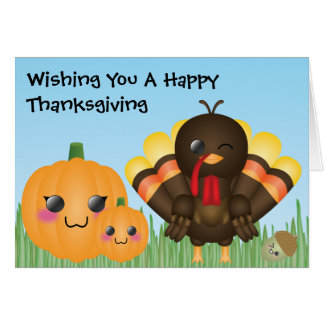 Wishing You A Happy Thanksgiving Greeting Cards