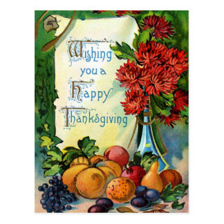 """""""Wishing you a Happy Thanksgiving"""" Vintage Postcard"""