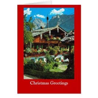Wishing you a joyous Christmas, Vintage Tirol Card