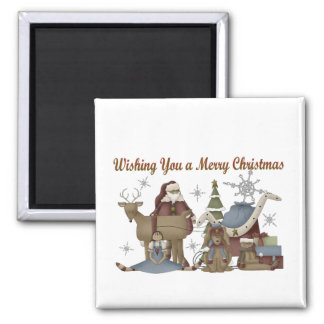 Wishing You a Merry Christmas Refrigerator Magnets