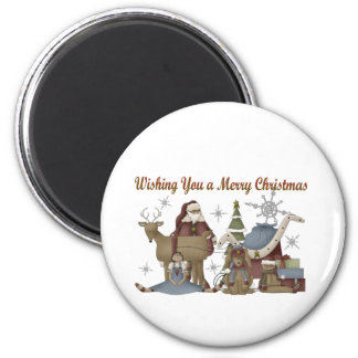 Wishing You a Merry Christmas 6 Cm Round Magnet