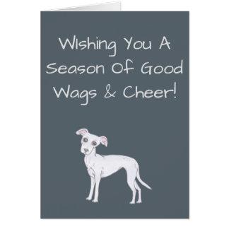 WIshing You A Season Of Good Wags & Cheer! Greeting Card