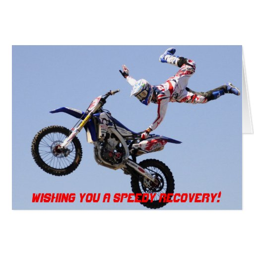 Wishing you a speedy recovery Motocross card