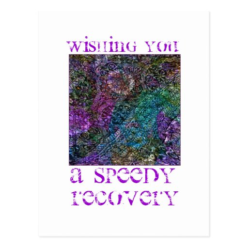 Wishing You a Speedy Recovery Postcard Postcards