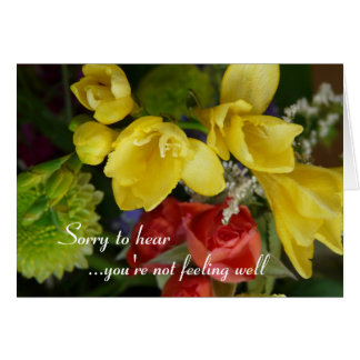Wishing you a speedy recovery- pretty flowers greeting card