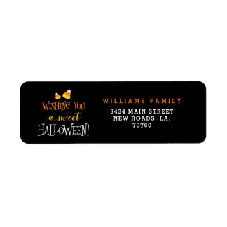 Wishing You A Sweet Halloween Return Address Label