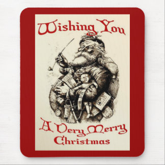 Wishing You A Very Merry Christmas Mouse Pad
