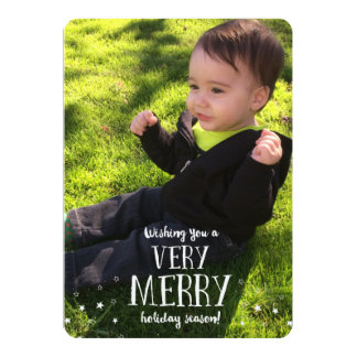 Wishing you a VERY MERRY holiday season! 13 Cm X 18 Cm Invitation Card
