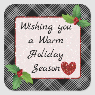 Wishing you a Warml Christmas Season Stickers