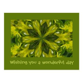 Wishing you a wonderful day - Fractal card Postcard
