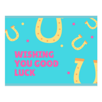 Wishing you good luck postcard