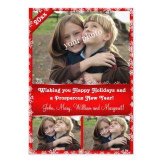 Wishing you happy holidays! 13 cm x 18 cm invitation card
