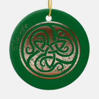 Wishing you Health- Slainte Ceramic Ornament