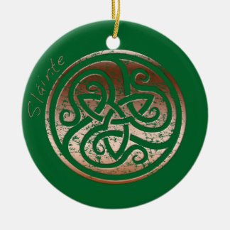 Wishing you Health- Slainte Round Ceramic Decoration