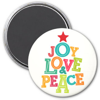Wishing you Joy, Love & Peace this season! 7.5 Cm Round Magnet