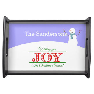 Wishing You Joy Personalized Serving Tray
